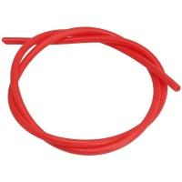 Армированный шланг наружный  6,70мм, внутренний  3,00мм, толщина стенки 1,85 мм цвет красный по 1 метру 15095